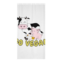 Friends Not Food   Cute Pig And Chicken Shower Curtain 36  X 72  (stall)  by Valentinaart