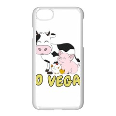 Friends Not Food   Cute Pig And Chicken Apple Iphone 8 Seamless Case (white)