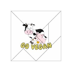 Friends Not Food   Cute Pig And Chicken Acrylic Tangram Puzzle (4  X 4 ) by Valentinaart