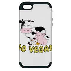 Friends Not Food   Cute Pig And Chicken Apple Iphone 5 Hardshell Case (pc+silicone) by Valentinaart