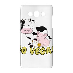 Friends Not Food   Cute Pig And Chicken Samsung Galaxy A5 Hardshell Case  by Valentinaart