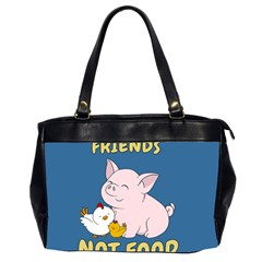 Friends Not Food   Cute Pig And Chicken Office Handbags (2 Sides)