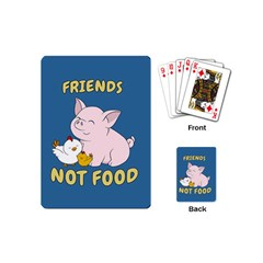 Friends Not Food   Cute Pig And Chicken Playing Cards (mini)  by Valentinaart