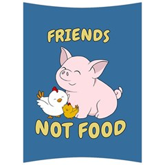 Friends Not Food   Cute Pig And Chicken Back Support Cushion by Valentinaart