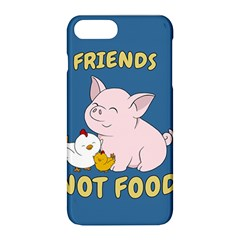 Friends Not Food   Cute Pig And Chicken Apple Iphone 8 Plus Hardshell Case
