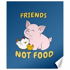 Friends Not Food   Cute Pig And Chicken Canvas 8  X 10  by Valentinaart