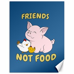 Friends Not Food   Cute Pig And Chicken Canvas 18  X 24   by Valentinaart