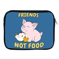 Friends Not Food   Cute Pig And Chicken Apple Ipad 2/3/4 Zipper Cases by Valentinaart