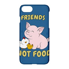 Friends Not Food   Cute Pig And Chicken Apple Iphone 8 Hardshell Case by Valentinaart