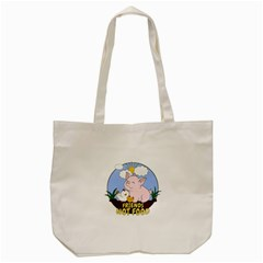 Friends Not Food   Cute Pig And Chicken Tote Bag (cream) by Valentinaart