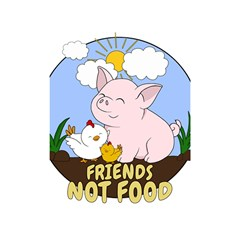 Friends Not Food   Cute Pig And Chicken Shower Curtain 48  X 72  (small)  by Valentinaart