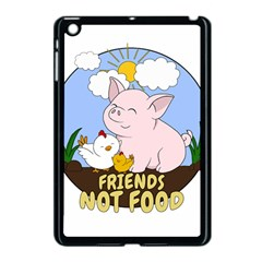 Friends Not Food   Cute Pig And Chicken Apple Ipad Mini Case (black) by Valentinaart