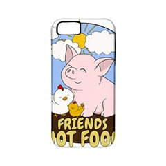Friends Not Food   Cute Pig And Chicken Apple Iphone 5 Classic Hardshell Case (pc+silicone) by Valentinaart