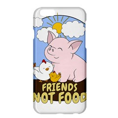 Friends Not Food   Cute Pig And Chicken Apple Iphone 6 Plus/6s Plus Hardshell Case by Valentinaart