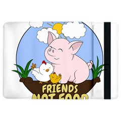 Friends Not Food   Cute Pig And Chicken Ipad Air 2 Flip by Valentinaart
