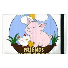 Friends Not Food   Cute Pig And Chicken Apple Ipad Pro 12 9   Flip Case by Valentinaart