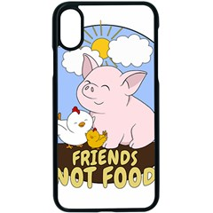Friends Not Food - Cute Pig And Chicken Apple Iphone X Seamless Case (black)