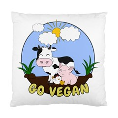 Friends Not Food   Cute Cow, Pig And Chicken Standard Cushion Case (two Sides) by Valentinaart