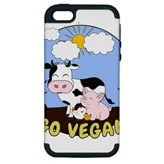 Friends Not Food   Cute Cow, Pig And Chicken Apple Iphone 5 Hardshell Case (pc+silicone) by Valentinaart