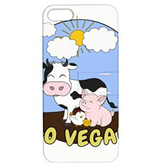 Friends Not Food   Cute Cow, Pig And Chicken Apple Iphone 5 Hardshell Case With Stand by Valentinaart