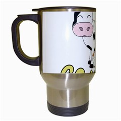 Friends Not Food   Cute Cow, Pig And Chicken Travel Mugs (white) by Valentinaart