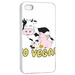 Friends Not Food   Cute Cow, Pig And Chicken Apple Iphone 4/4s Seamless Case (white) by Valentinaart