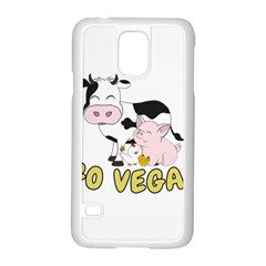 Friends Not Food   Cute Cow, Pig And Chicken Samsung Galaxy S5 Case (white) by Valentinaart