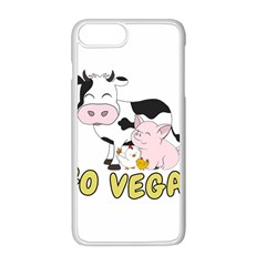 Friends Not Food   Cute Cow, Pig And Chicken Apple Iphone 8 Plus Seamless Case (white) by Valentinaart