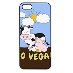Friends Not Food   Cute Cow, Pig And Chicken Apple Iphone 5 Seamless Case (black)