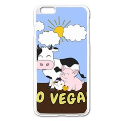 Friends Not Food   Cute Cow, Pig And Chicken Apple Iphone 6 Plus/6s Plus Enamel White Case