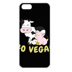 Friends Not Food   Cute Cow, Pig And Chicken Apple Iphone 5 Seamless Case (white) by Valentinaart