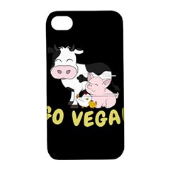 Friends Not Food   Cute Cow, Pig And Chicken Apple Iphone 4/4s Hardshell Case With Stand