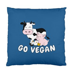 Friends Not Food   Cute Cow, Pig And Chicken Standard Cushion Case (one Side) by Valentinaart