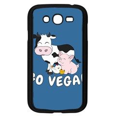 Friends Not Food - Cute Cow, Pig And Chicken Samsung Galaxy Grand Duos I9082 Case (black) by Valentinaart