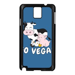 Friends Not Food   Cute Cow, Pig And Chicken Samsung Galaxy Note 3 N9005 Case (black) by Valentinaart
