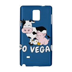 Friends Not Food   Cute Cow, Pig And Chicken Samsung Galaxy Note 4 Hardshell Case by Valentinaart