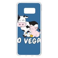 Friends Not Food   Cute Cow, Pig And Chicken Samsung Galaxy S8 Plus White Seamless Case by Valentinaart