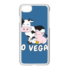 Friends Not Food   Cute Cow, Pig And Chicken Apple Iphone 8 Seamless Case (white) by Valentinaart