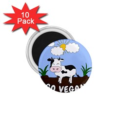 Friends Not Food   Cute Cow 1 75  Magnets (10 Pack)  by Valentinaart