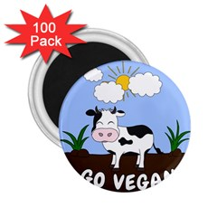 Friends Not Food   Cute Cow 2 25  Magnets (100 Pack)