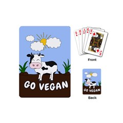 Friends Not Food   Cute Cow Playing Cards (mini)  by Valentinaart