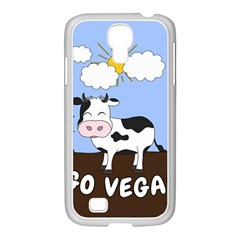 Friends Not Food   Cute Cow Samsung Galaxy S4 I9500/ I9505 Case (white) by Valentinaart