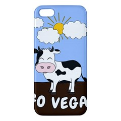 Friends Not Food   Cute Cow Iphone 5s/ Se Premium Hardshell Case by Valentinaart