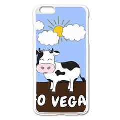 Friends Not Food   Cute Cow Apple Iphone 6 Plus/6s Plus Enamel White Case