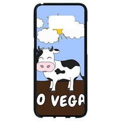 Friends Not Food   Cute Cow Samsung Galaxy S8 Black Seamless Case by Valentinaart
