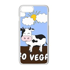 Friends Not Food   Cute Cow Apple Iphone 8 Plus Seamless Case (white) by Valentinaart