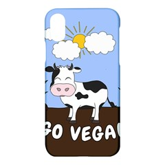 Friends Not Food   Cute Cow Apple Iphone X Hardshell Case