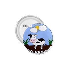 Friends Not Food   Cute Cow 1 75  Buttons by Valentinaart
