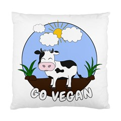 Friends Not Food   Cute Cow Standard Cushion Case (two Sides) by Valentinaart