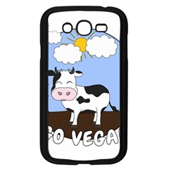 Friends Not Food   Cute Cow Samsung Galaxy Grand Duos I9082 Case (black) by Valentinaart